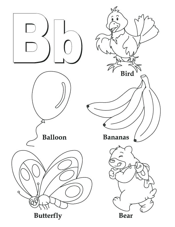 612x792 Educational Stage Coloring Pages My A To Z Coloring Book Letter B