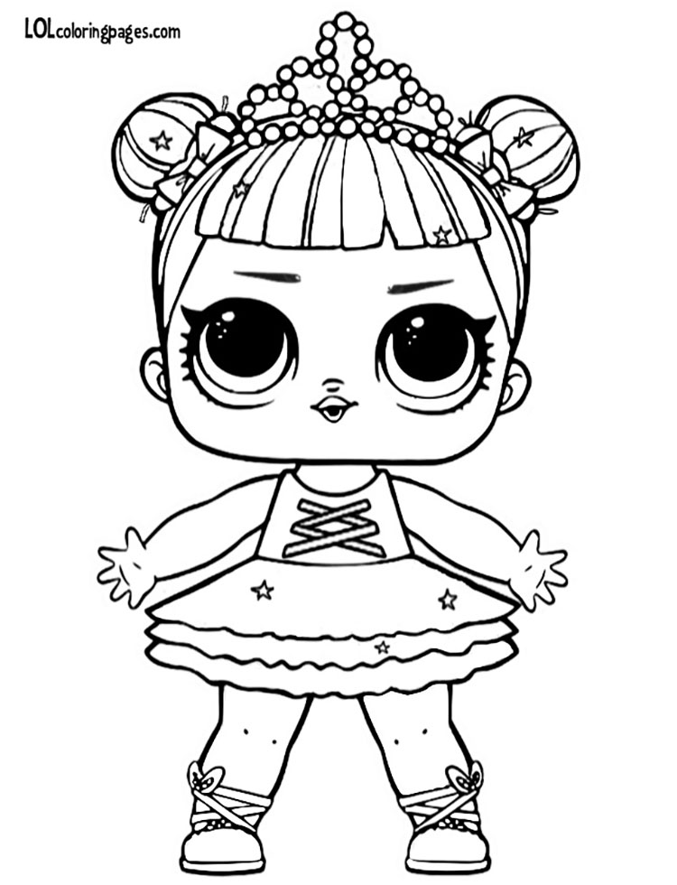 750x980 Glitter Center Stage Coloring Page Lol Surprise Doll Coloring Pages
