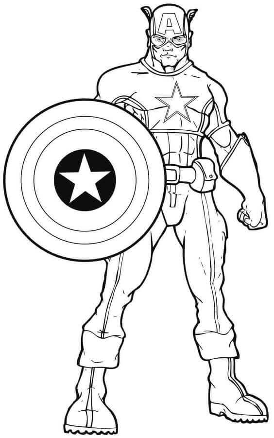 564x901 Printable Captain America Coloring Pages
