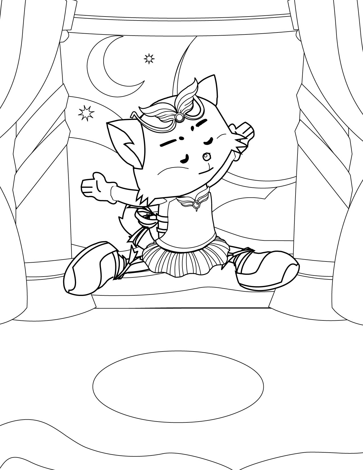 1275x1650 Ballerina Coloring Page
