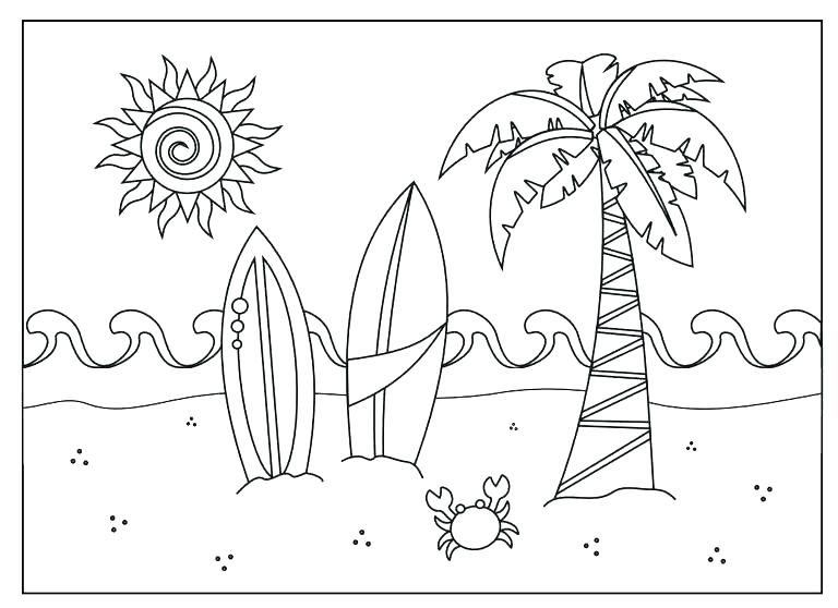 768x558 Beach Coloring Page Summer Beach Coloring Sheets Boom Beach