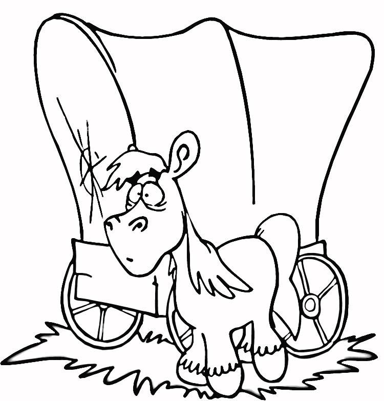 750x783 Wagon Coloring Page
