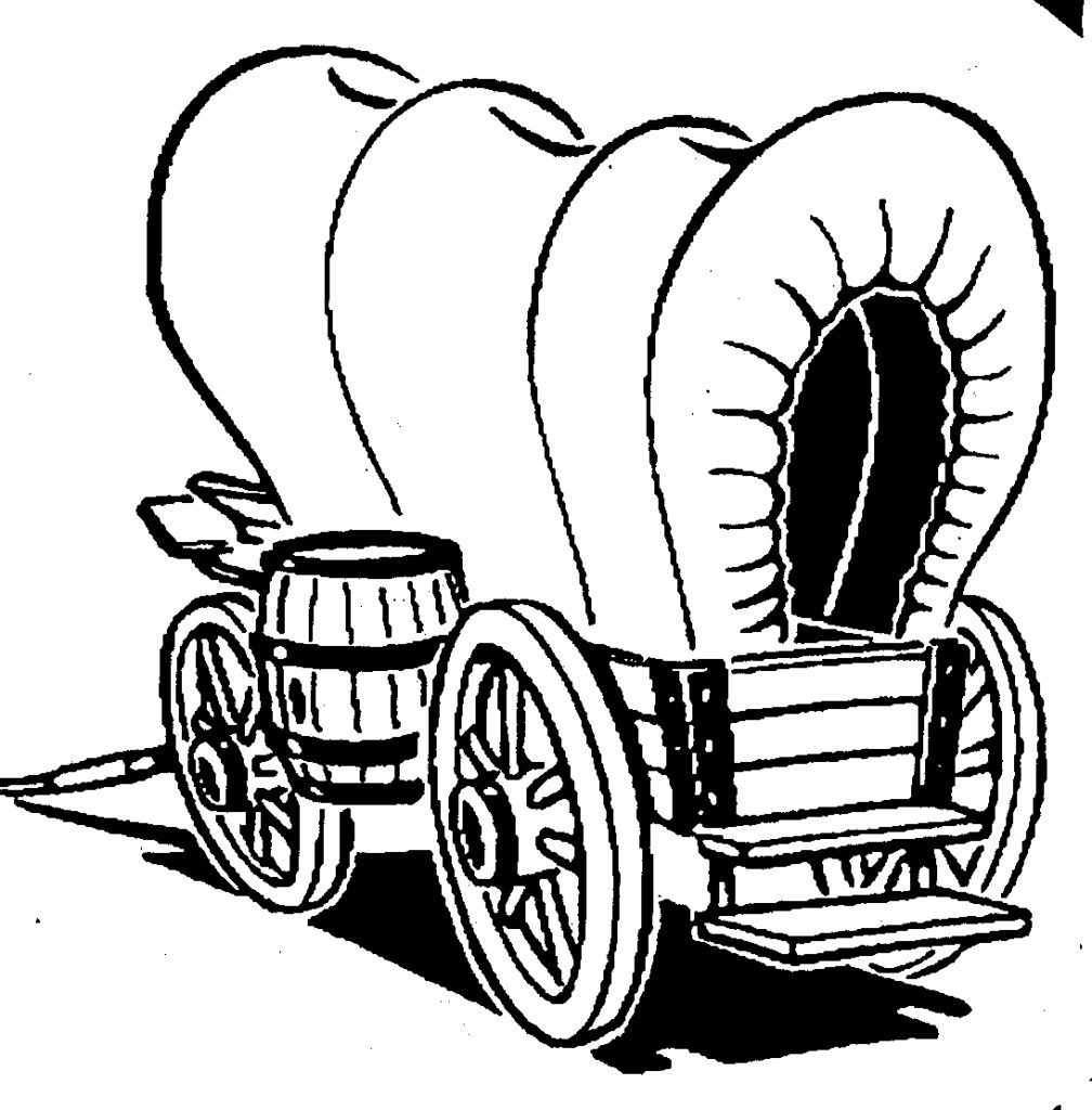 1008x1024 Attractive Covered Wagon Coloring Page Pattern