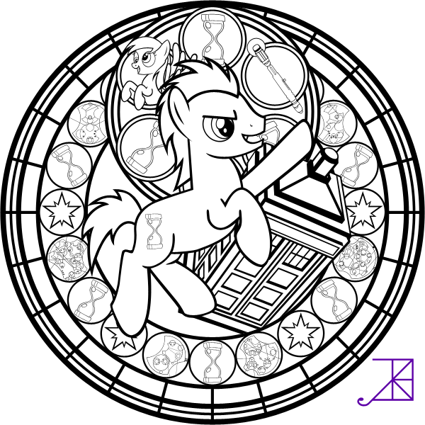 600x600 Doctor Hooves Stained Glass Coloring Page