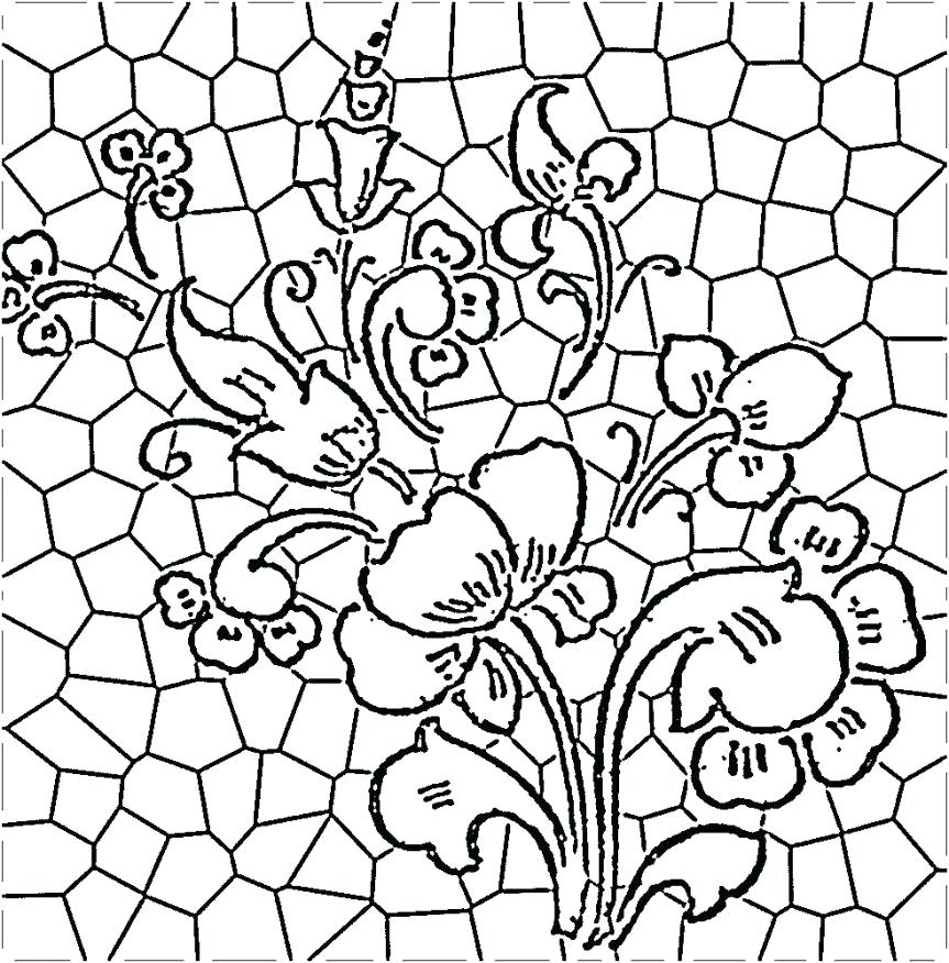 863x876 Luxury Stained Glass Coloring Pages For Adults Or Coloring Pages