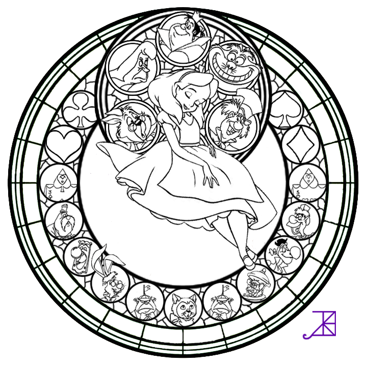 720x720 Stained Glass Coloring Pages