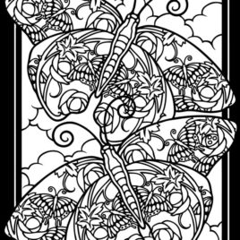 268x268 Stained Glass Coloring Pages For Adults All About Coloring Pages