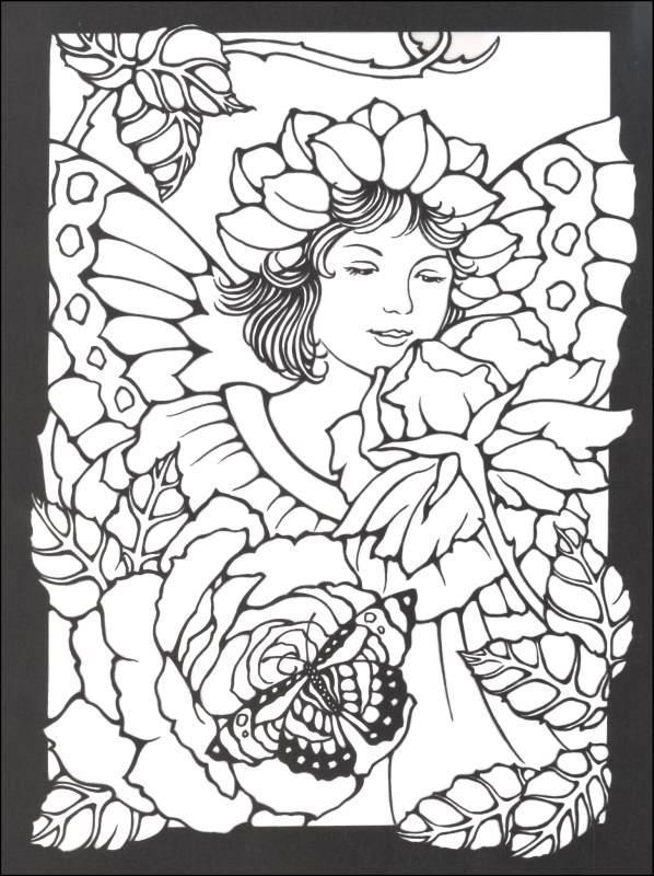 598x800 Stained Glass Coloring Pages For Adults Fancy Stained Glass