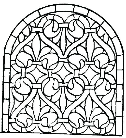 493x541 Stained Glass Coloring Pages For Adults Stain Glass Coloring Pages