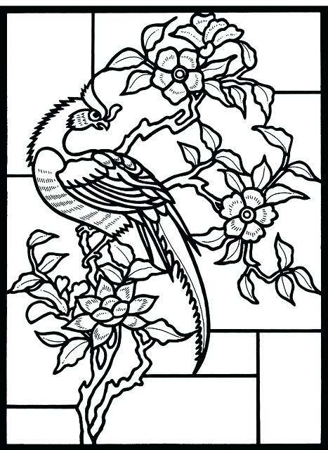 467x640 Stained Glass Coloring Pages Stained Glass Coloring Pages Little