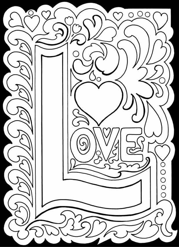 618x850 True Love Stained Glass Adult Color Pages Glass