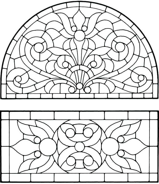 650x750 Stained Glass Coloring Pages For Adults Stained Glass Coloring