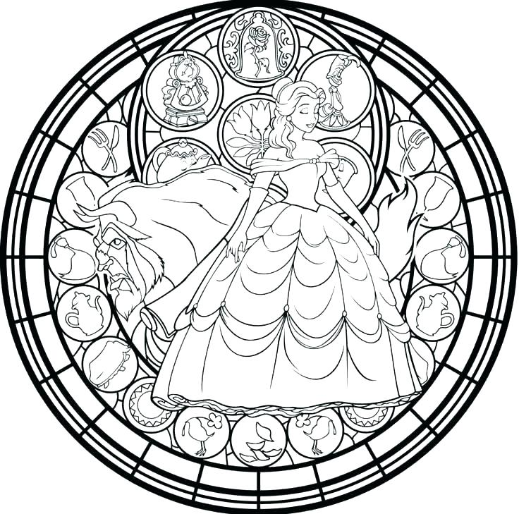 736x729 Stained Glass Coloring Pages For Adults