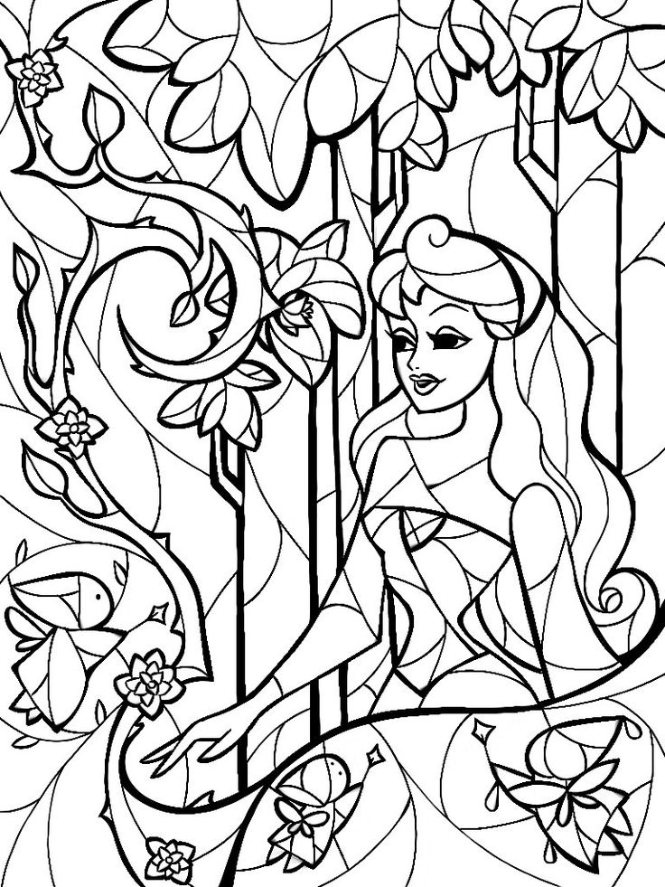 736x981 Best Stained Glass Coloring Pages For Adults Images