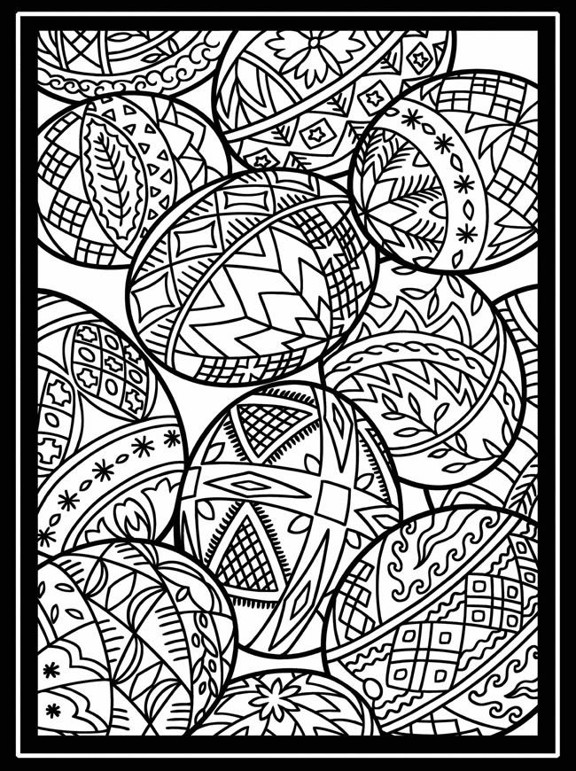 650x870 Artful Eggs From Around The World Stained Glass Coloring Book