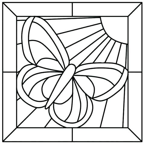 480x476 Free Printable Stained Glass Coloring Pages Parks Coloring Page