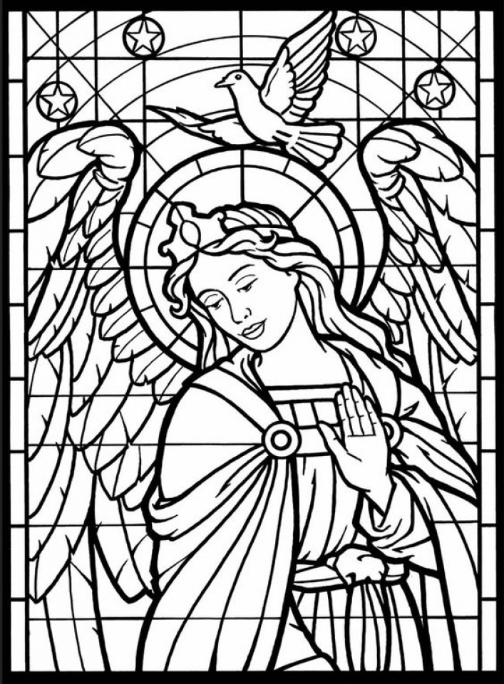 707x960 Get This Printable Stained Glass Coloring Pages Online !