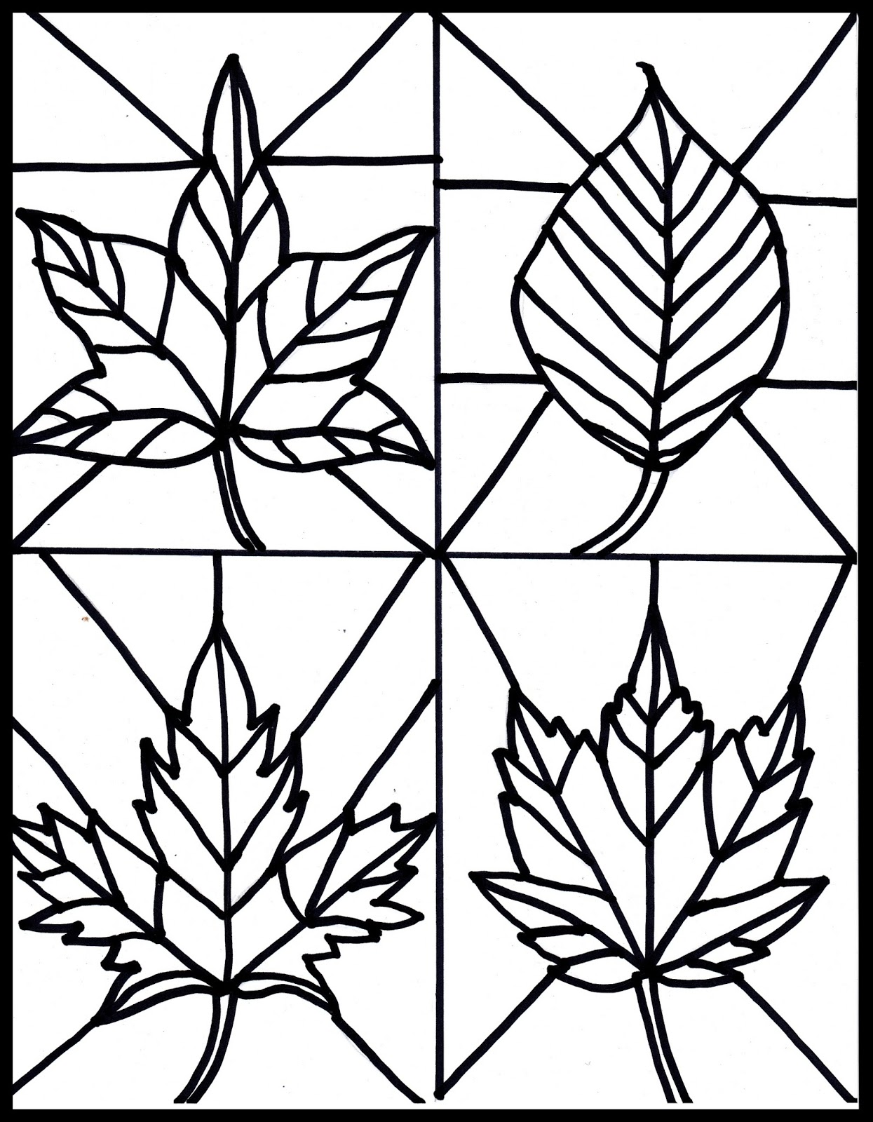 1245x1600 Make It Easy Crafts Kid's Craft Stained Glass Leaves Free Printable