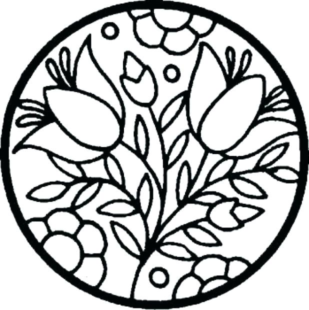 Stained Glass Coloring Pages For Kids At Getdrawings Com