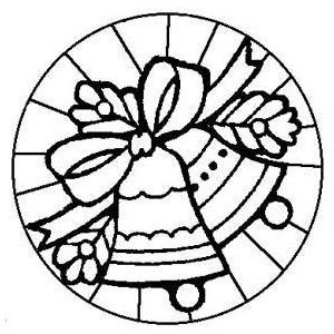 300x300 Christmas Stained Glass Patterns Free Kids Christmas Coloring