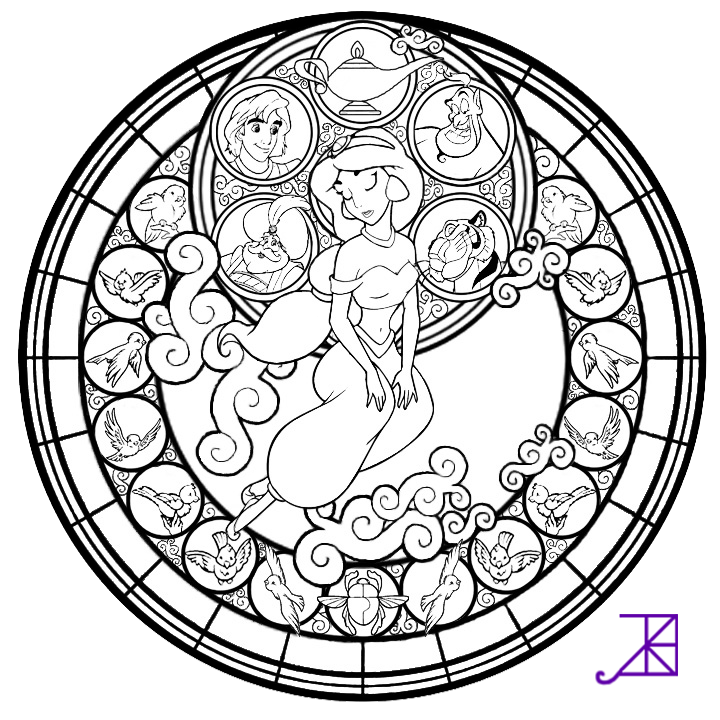 720x720 Disney Stained Glass Coloring Pages