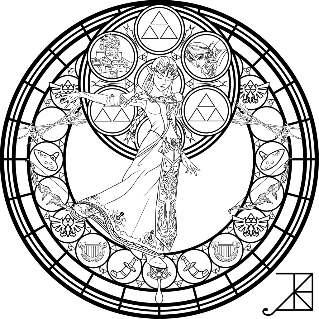 1024x1024 Quickly Stained Glass Coloring Sheets Pages Free