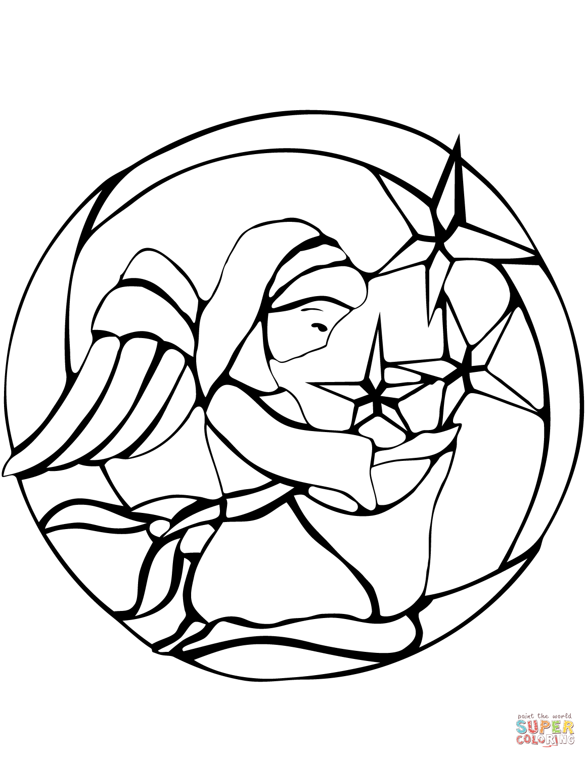 1159x1500 Smart Idea Stained Glass Coloring Pages Free