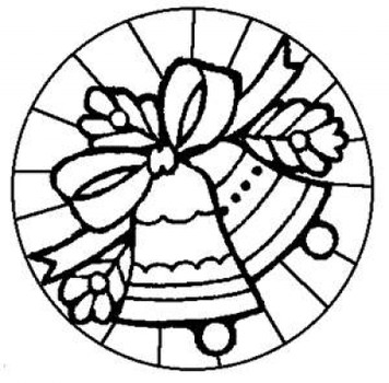 356x350 Stained Glass Christmas Coloring Pages