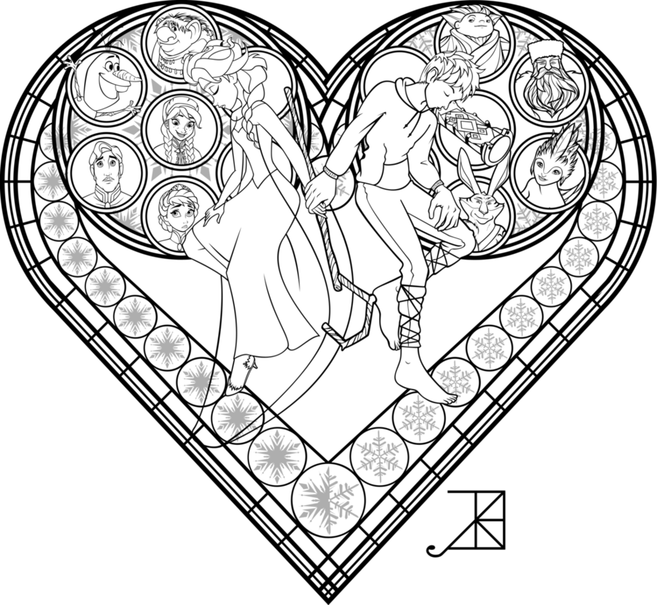 931x858 Stained Glass Coloring Page Frosted Love