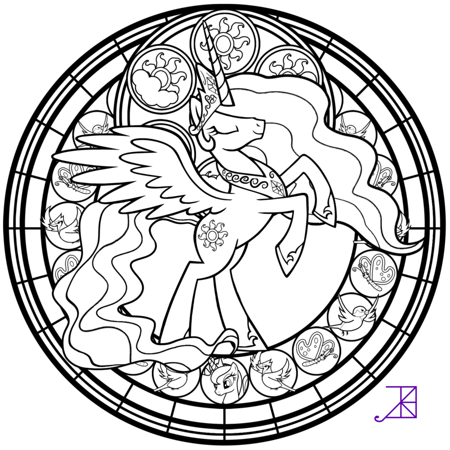 900x900 Stained Glass Coloring Pages