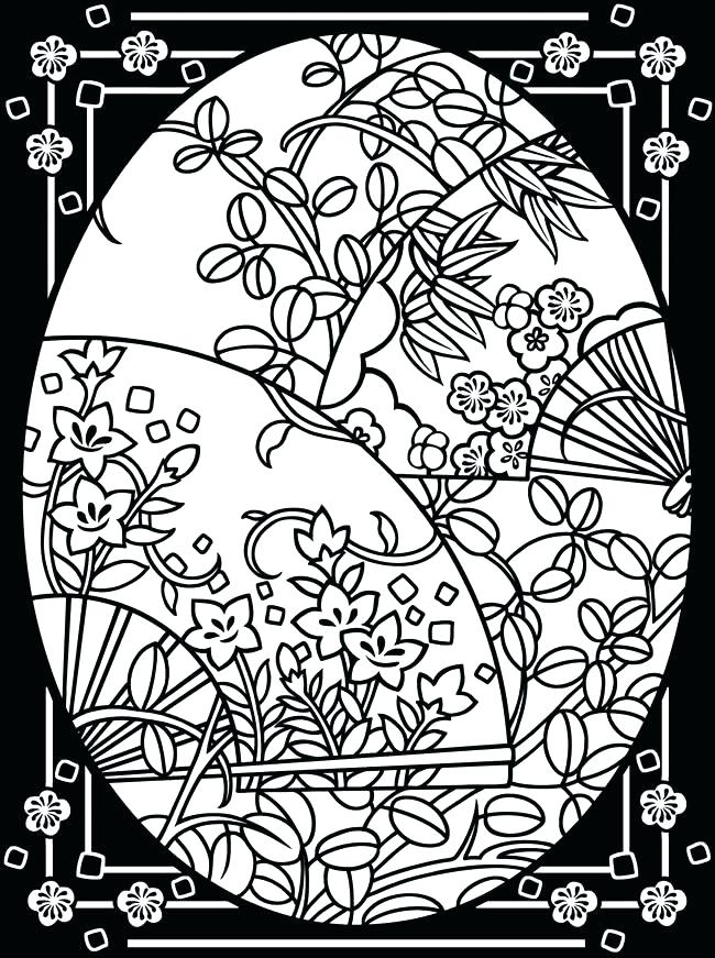 650x871 Stained Glass Coloring Pages For Adults Stained Glass Coloring