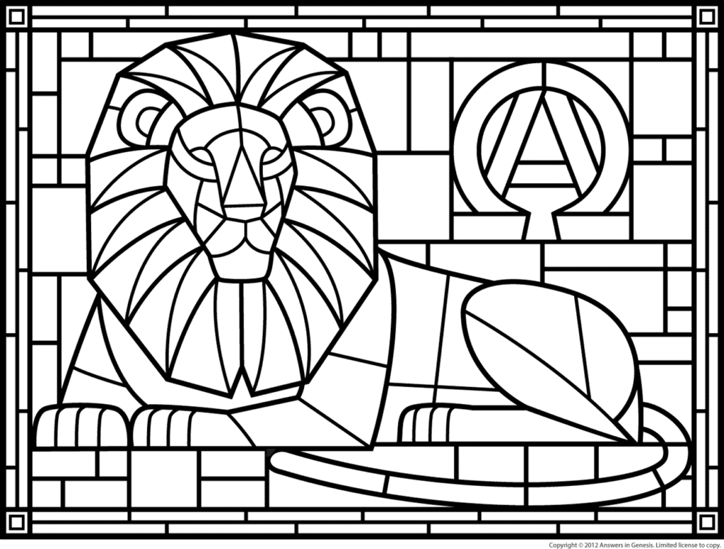 1024x776 Stained Glass Coloring Pages Free Printable Stained Glass Coloring