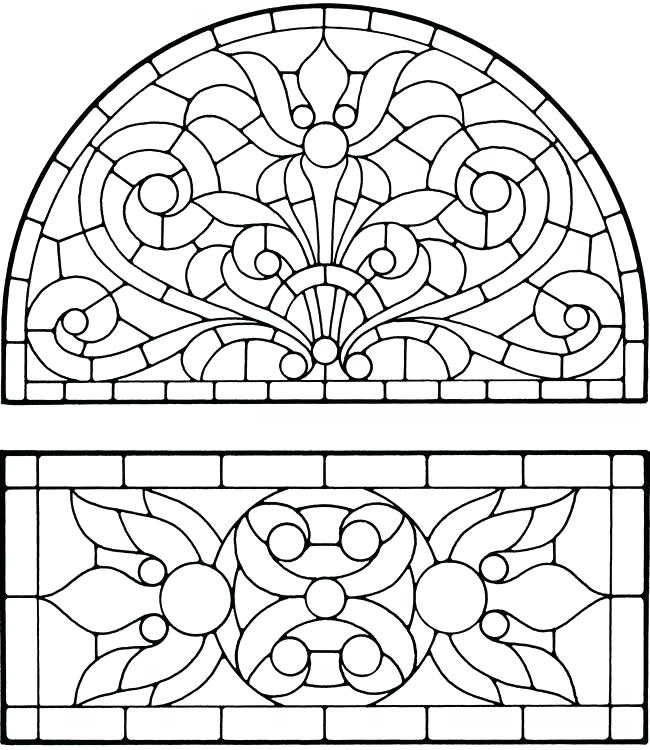 Stained Glass Coloring Pages Free At Getdrawings Com Free For