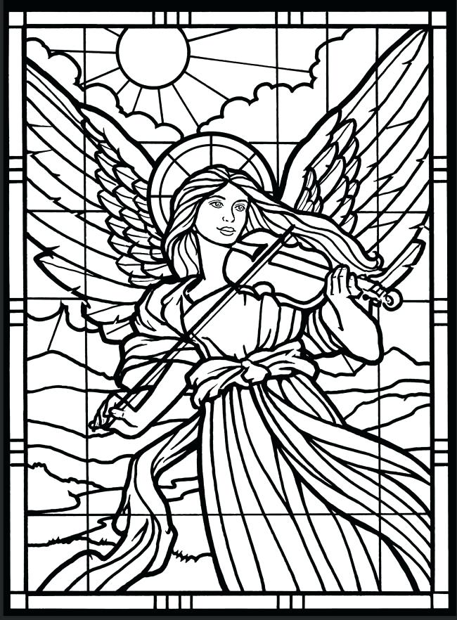 650x882 Stained Glass Coloring Sheets Excellent Stained Glass Coloring
