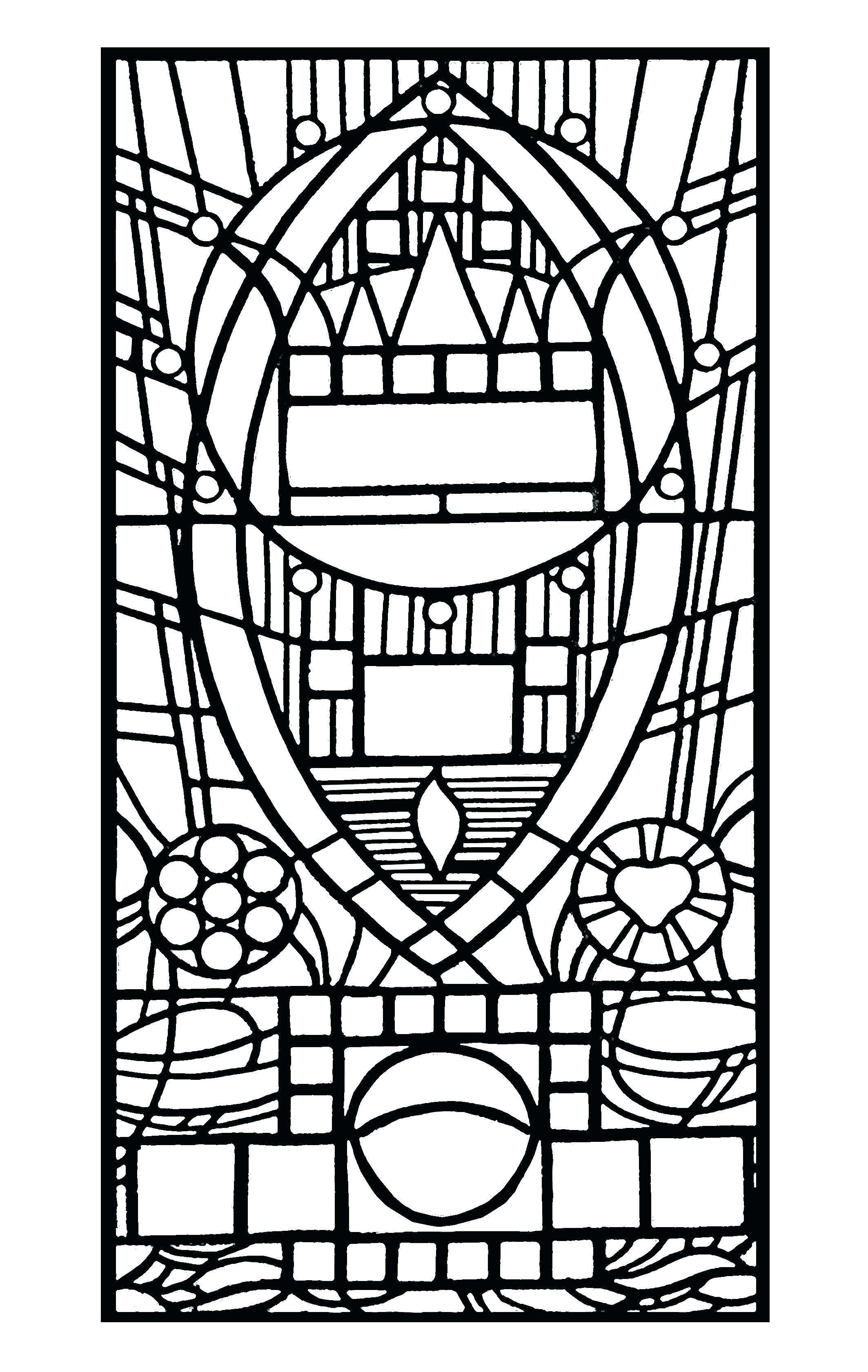 2126x3362 Stained Glass Window Coloring Pages Gallery
