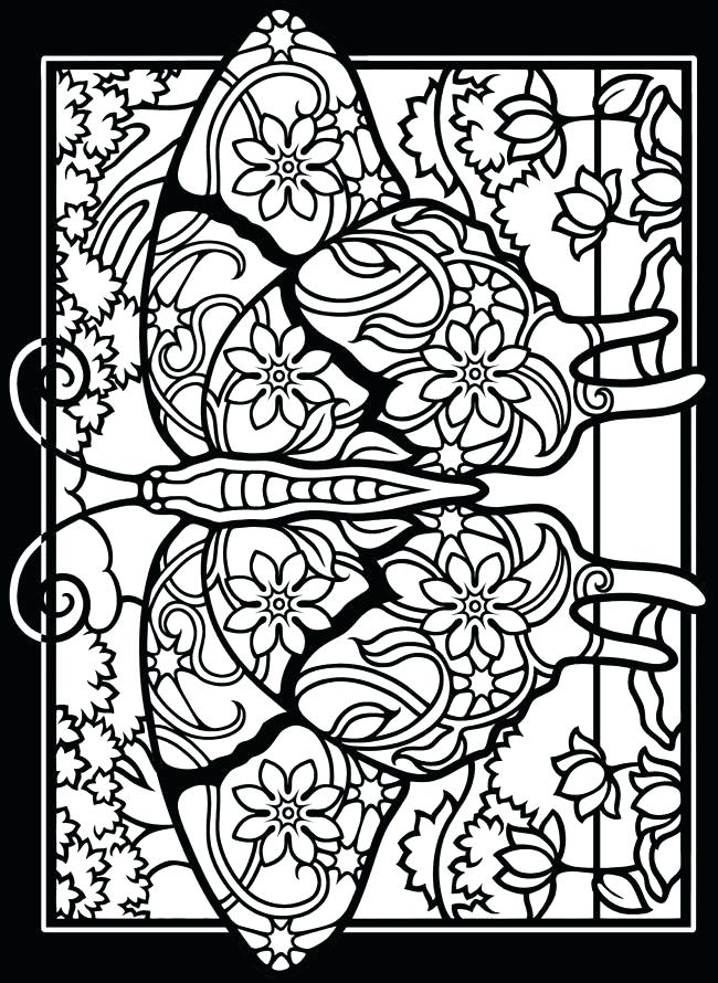 650x890 Stained Glass Window Coloring Pages Stained Glass Coloring Book