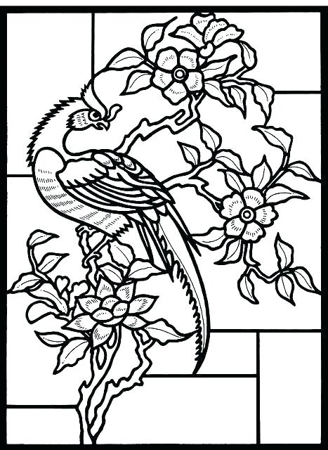 467x640 Free Stained Glass Coloring Pages