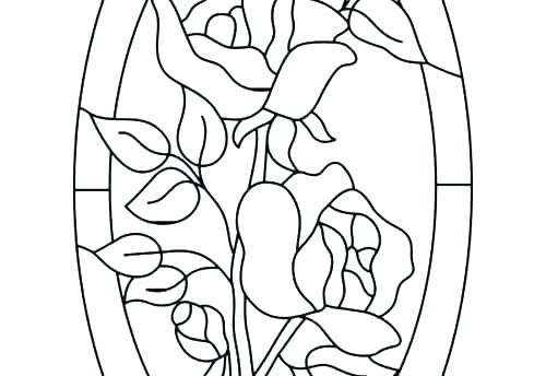 500x344 Stained Glass Coloring Pages