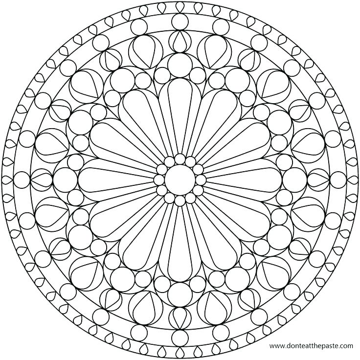 736x736 Free Stained Glass Coloring Pages Free Stained Glass Coloring