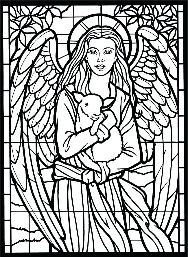 650x888 Stained Glass Coloring Amazing Angels Stained Glass Coloring Book