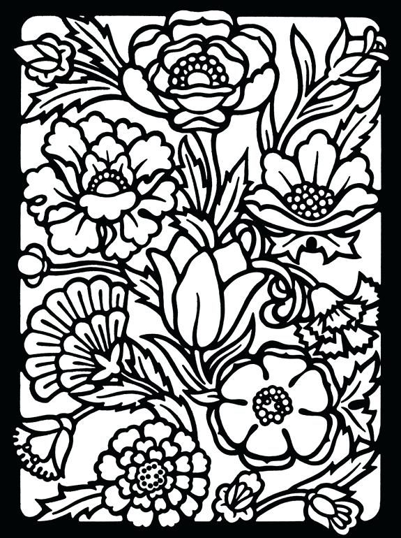 575x770 Stained Glass Coloring Pages Butterfly On Flower Stained Glass