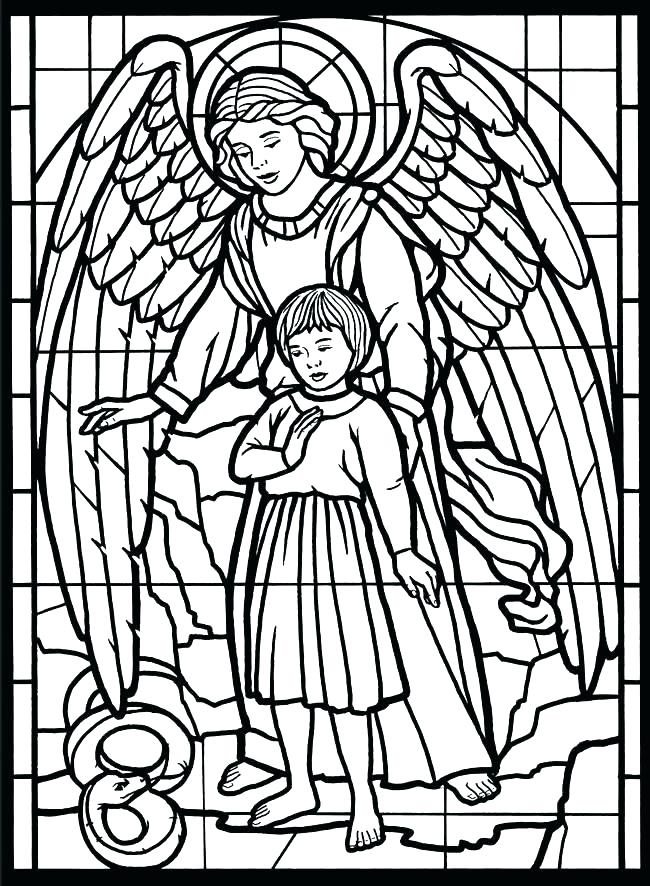 650x886 Stained Glass Coloring Pages Stained Glass Free Coloring Pages