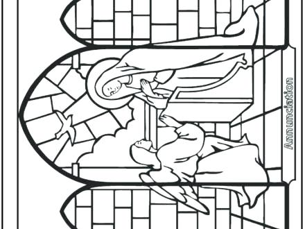 440x330 Stained Glass Coloring Pages Stained Glass Window Coloring Pages
