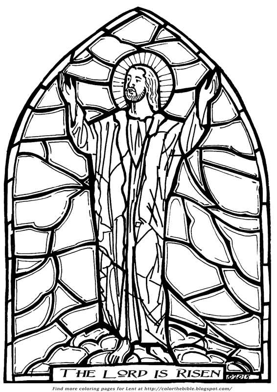 566x800 The Lord Is Risen! Color The Bible