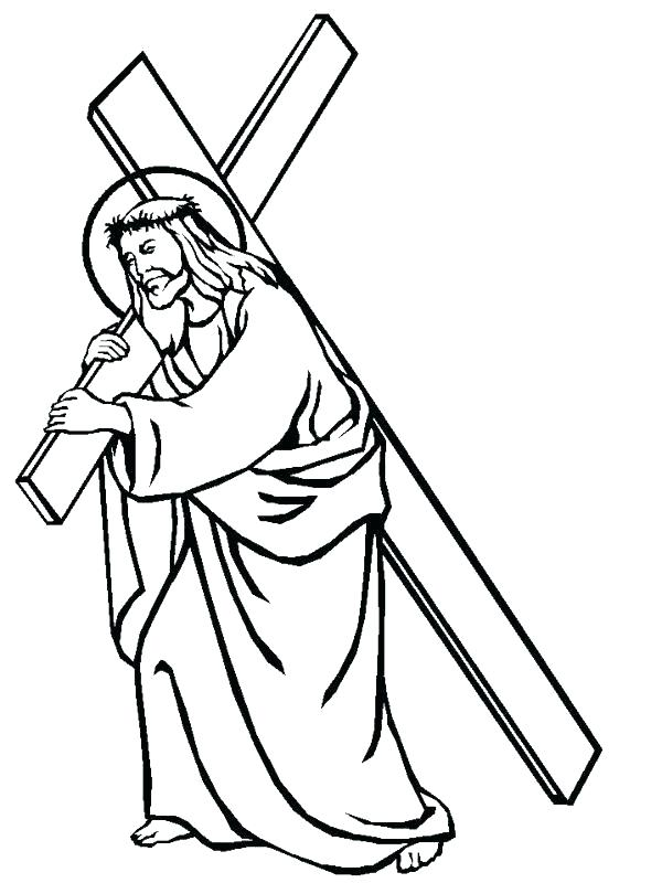 600x800 Cross Color Pages Stained Glass Cross Coloring Page Cross Color