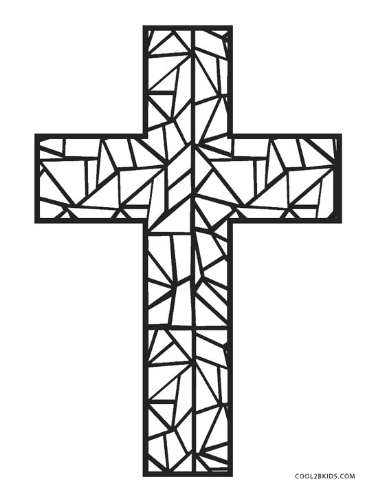 Stained Glass Cross Coloring Page at GetDrawings | Free ...