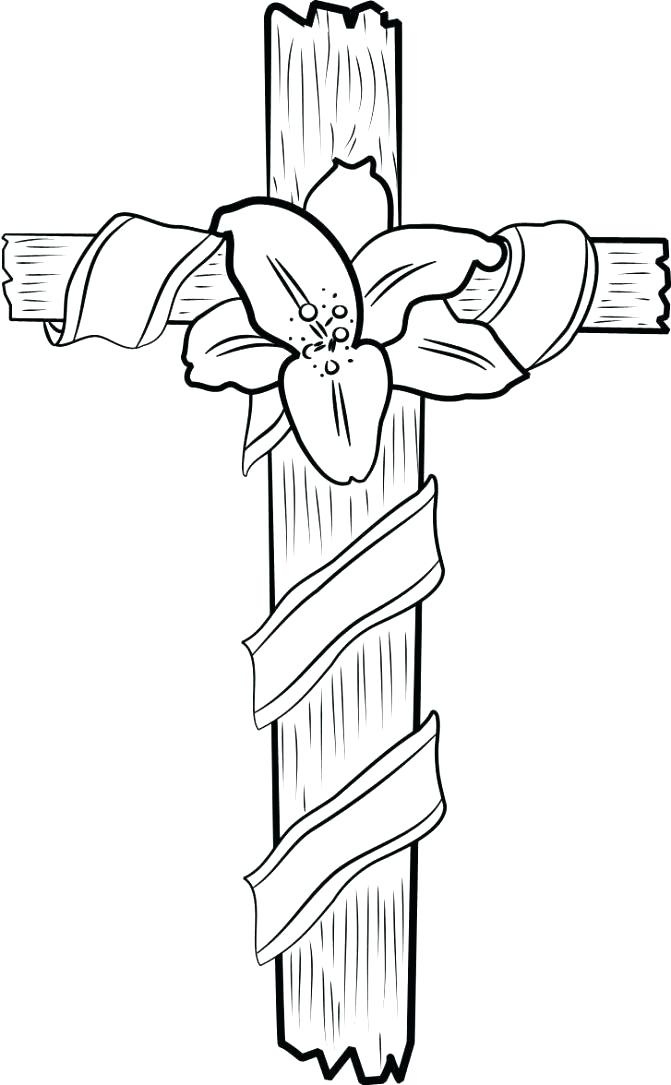 671x1085 Coloring Page Cross Cross Coloring Pages Plus On The Cross