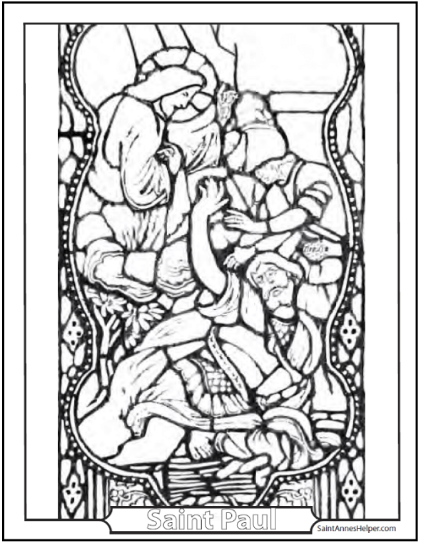 590x762 Stained Glass Coloring Pages Church Windows