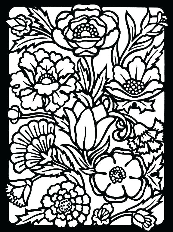 575x770 Stained Glass Coloring Page Free Nativity Stained Glass Coloring