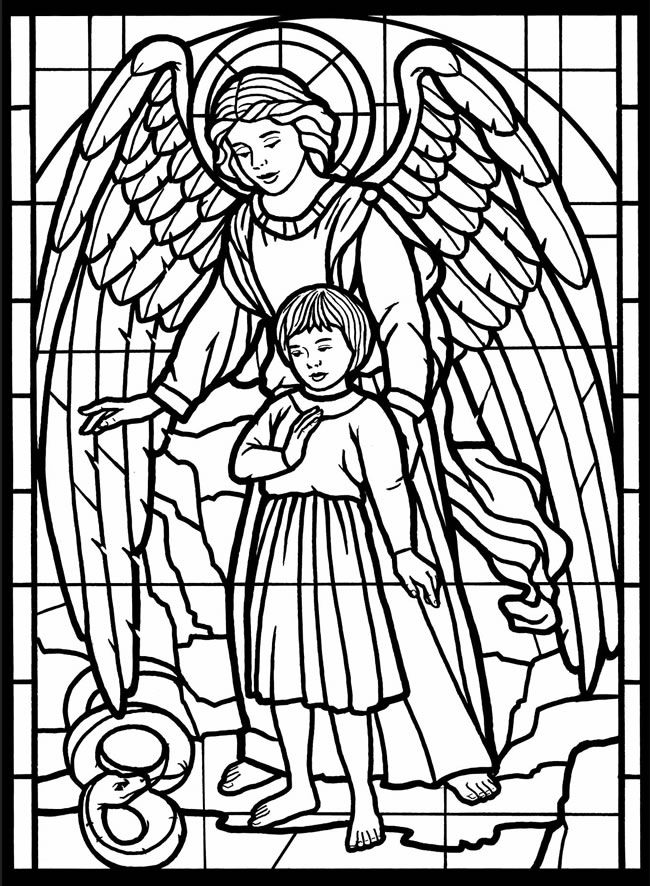 650x886 Stained Glass Cross Coloring Pages Free Printable Cross Coloring